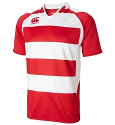 CANTERBURY HOOPED CHALLENGE JERSEY - RED/WHITE
