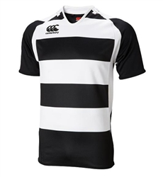 CANTERBURY HOOPED CHALLENGE JERSEY - BLACK/WHITE