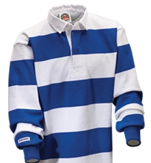 "Barbarian Casual White / Royal 4"" Stripe"